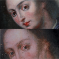 Madonna - 17th C - before and after